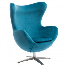 Fotel Jajo Velvet niebieski
