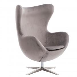 Fotel Jajo Velvet srebrny