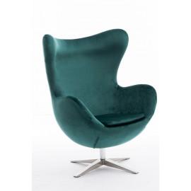 Fotel Jajo Velvet zielony ciemny