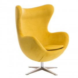 Fotel Jajo Velvet żółty