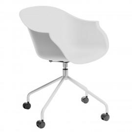Krzesło na kółkach Roundy białe