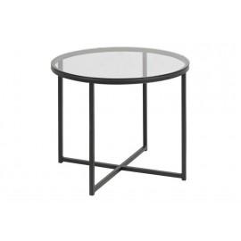 Stolik okrągły Cross szkło/czarny