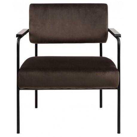 Fotel Cloe VIC szaro-brązowy