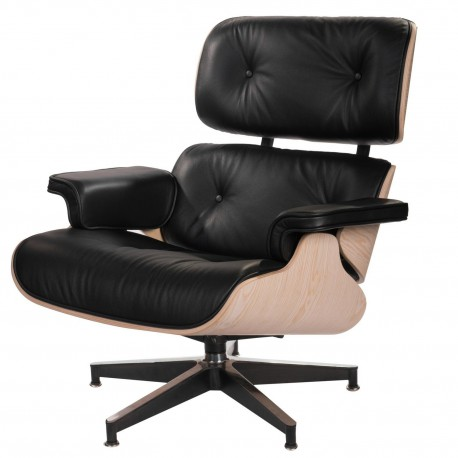 Fotel Vip czarny/jasne drewno/standard b ase