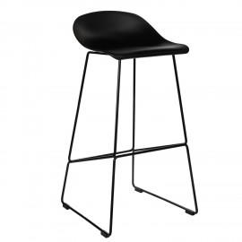 Krzesło barowe Molly czarne High