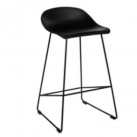 Krzesło barowe Molly czarne Low
