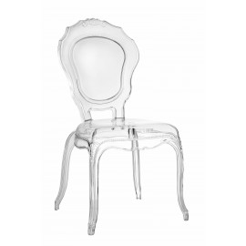 Krzesło transparentne Queen