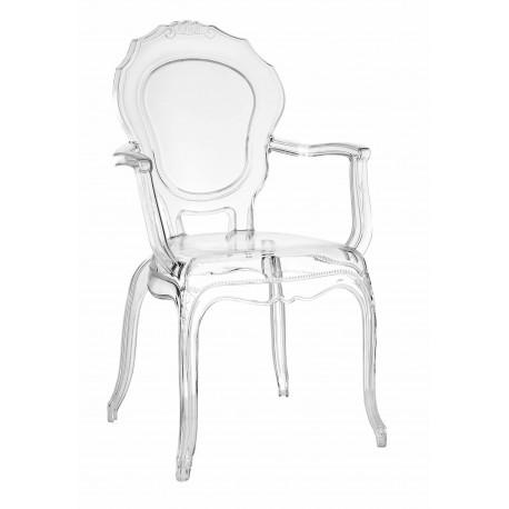 Krzesło transparentne Queen Arm