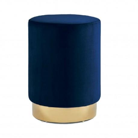 Pufa Delice Velvet M niebieska