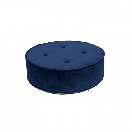 Pufa Lona Velvet niebieska