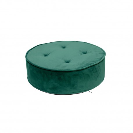 Pufa Lona Velvet zielona