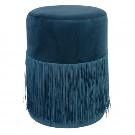 Pufa Plume Velvet niebieska
