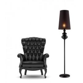 Baroco black, lampa stojąca w stylu barokowym