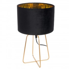 Lampa Velte Intesi czarna/złota