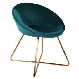 Fotel Karl Velvet niebieski