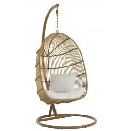 Fotel wiszący Oval brązowy