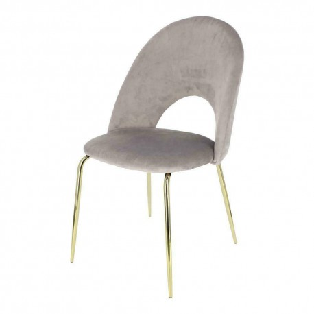 Krzesło Solie Velvet szare/złote