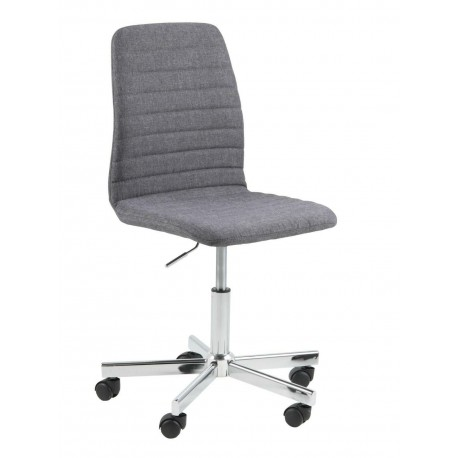 Fotel biurowy Amanda Szary chrom