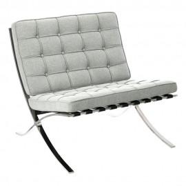 Fotel BA1 tkanina jasny szary