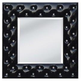 Lustro kryształowe, barokowe w białej ramie 98x98 PU-58