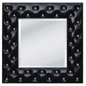 Lustro kryształowe, barokowe w czarnej ramie 98x98 PU-58