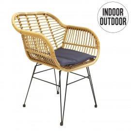 Krzesło Surabaya z podłokietnikami natur alne