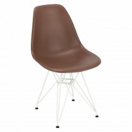 Krzesło P016 PP White brązowe