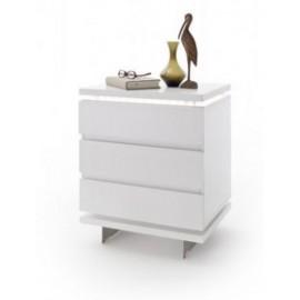 Elegancka i funkcjonalna szafka nocna kolor biały NOLA 2