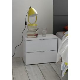 Stylowa szafka nocna OTTICA kolor biały