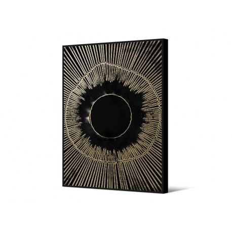 Czarny obraz okraszony złotem TOIR25871 dwa rozmiary