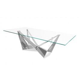 Designerski stół błyszcząca podstawa 200 x 100 x 75 cm CT2061