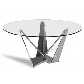 Designerski okrągły stół błyszcząca podstawa Ø150 cm CT2061R