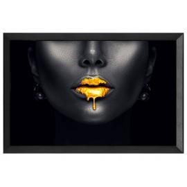 Obraz złote usta 80 x 60 cm S72655