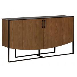 Drewniana szafka z cementowym blatem 160 x 40 x 80 cm H841