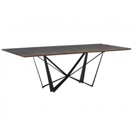 Stół z cementowym blatem 220 x 110 x 75 cm A48