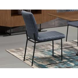 Tapicerowane pikowane krzesło do salonu wysokość 90 cm N6278