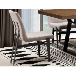 Nowoczesne krzesło jasno-szara tkanina 46 x 64 x 86 cm N-6273