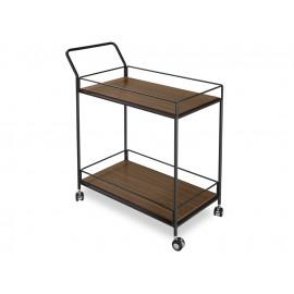 Mobilny barek drewniane blaty 80 x 40 x 91 cm N6412