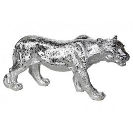 Srebrna figura lwicy 52 x 14 x 25 cm A453-2S