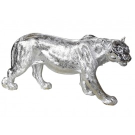 Srebrna figura lwicy 78 x 16 x 36 cm A453-S