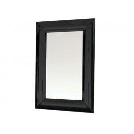 Lustro w giętej czarnej lustrzanej ramie 80 x 100 cm 15JZ191