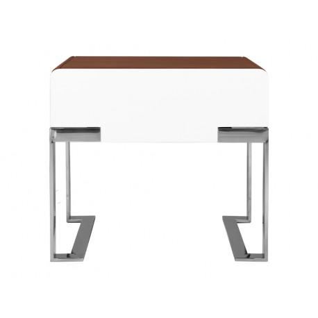 Elegancka drewniano biała szafka wysoki połysk 60 x 40 x 55 cm N-836