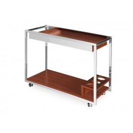 Elegancki mobilny drewniany barek 90 x 40 x 70 cm