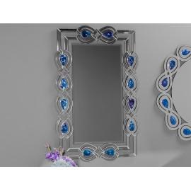 Eleganckie lustro orientalny wzór kolorowe kryształki 80 x 120 cm JSM439