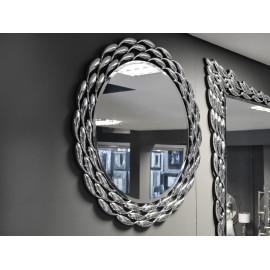 Okrągłe lustro łezki lustrzane Ø 82 cm JSM452