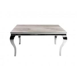 Stół z marmurowym białym blatem modern barock 150 x 90 x 75 cm CT/TH306