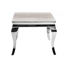 Stolik kawowy z marmurowym białym blatem modern barock 60 x 60 x 57 cm CT/D306