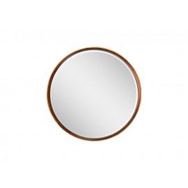 Okrągłe lustro Art Déco drewniana rama Ø 80 cm 10173