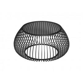 Druciany stolik kawowy szklany grafitowy blat Ø75 x 63,5 cm TOYJ19-526