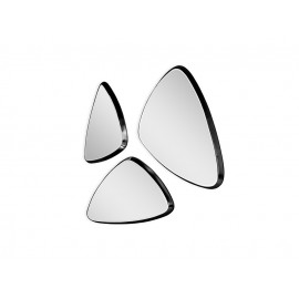 Komplet 3 trójkątnych luster w srebrnej oprawie 15F-543